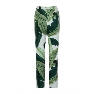 Foto van Cigarette trousers Talis met banana leafs
