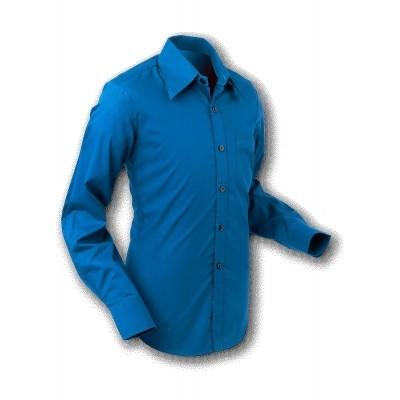 Overhemd 70s Basic Blue
