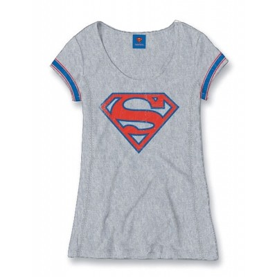 T-Shirt Superman College Logo Woman