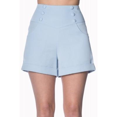 Shorts Cute as a Button baby blue