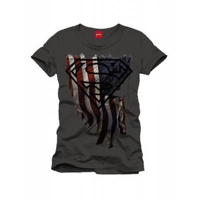 Foto van T-Shirt Superman Logo Distress Flag