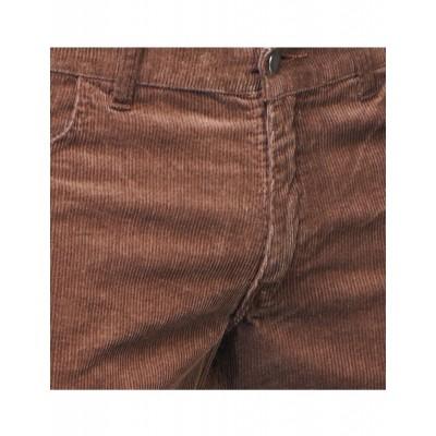 Foto van Ribcord retro broek bruin, wijde pijp normale lengte