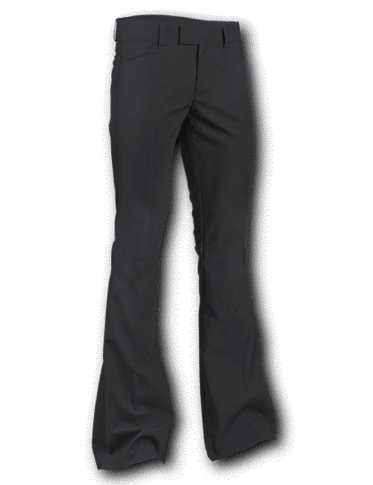 Pantalon met uitlopende pijp Zwart