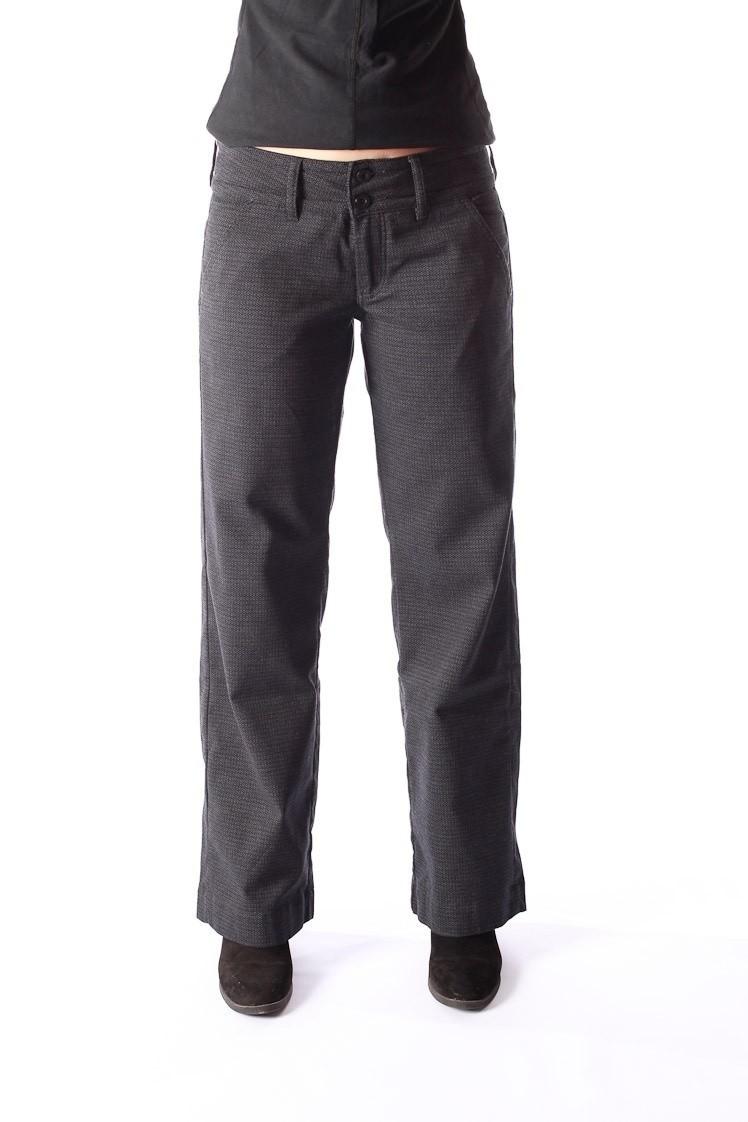 Pantalon Lilia, zwart grijs jaquard patroon