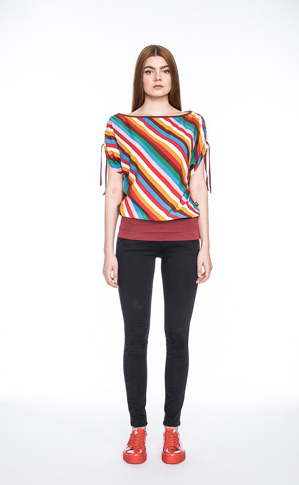 T-shirt Mona, multikleur