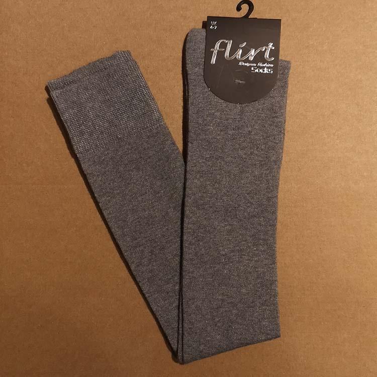 Flirt | Overknee sokken mediumgrijs