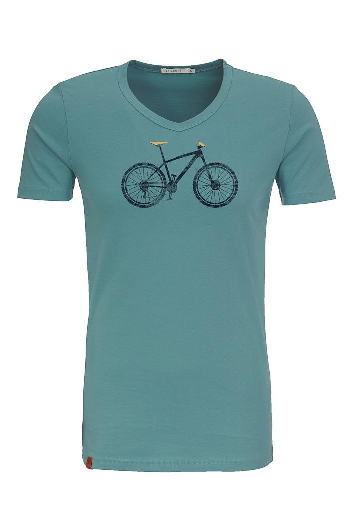 Green Bomb | T-shirt lichtblauw Bike Cross bio katoen