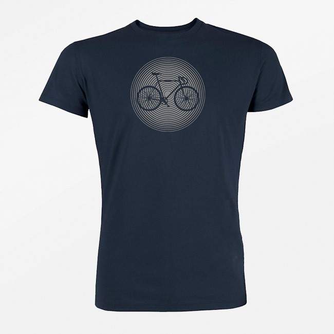 T-shirt Bike circle, bio katoen navy