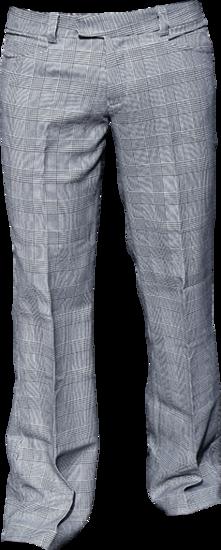 Pantalon Bakerstreet, zwart met witte ruit, wijde pijpen