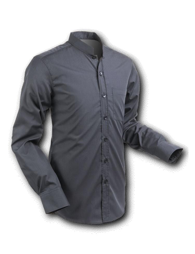 Overhemd Mao Zwart