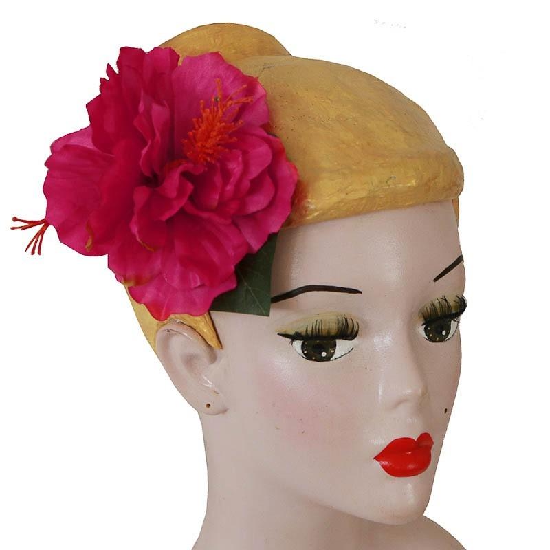 Miranda's Choice - Haarclip roze Hibiscus