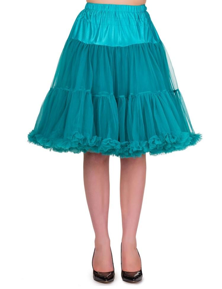 Petticoat Starlite over de knie met extra volume Emerald
