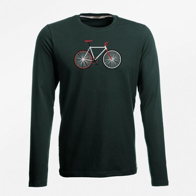 Lange Easy Shirt KatoenOnline Bike Bio Kopen Mouw T u3TKJlF1c