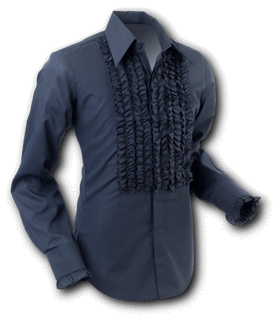 Overhemd Ruche Black-Black
