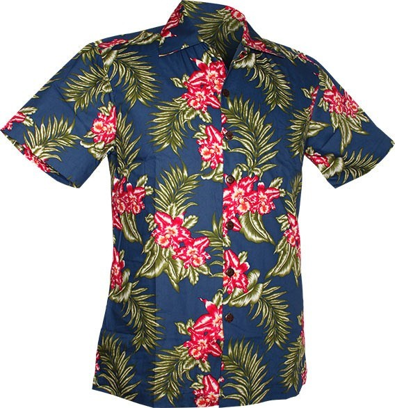 Chenaski | Overhemd korte mouw, South sea flowers