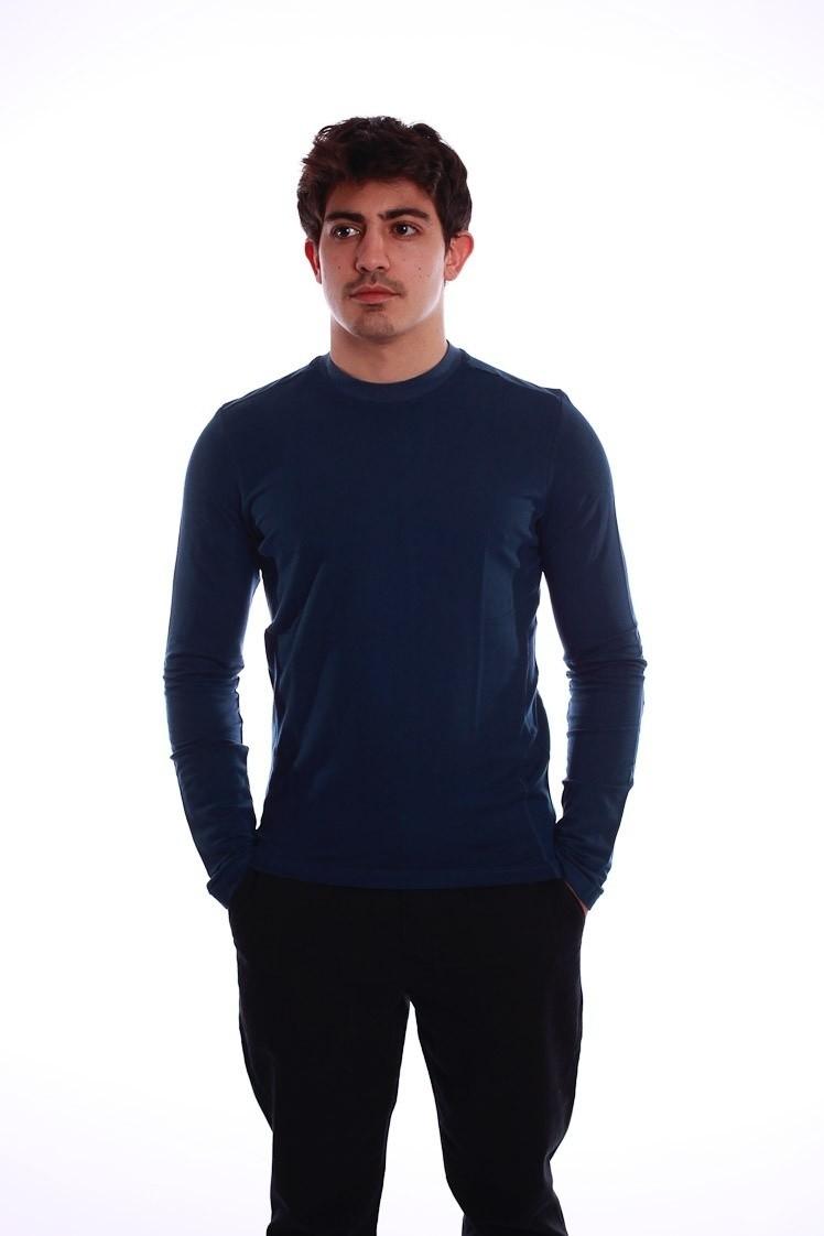 Shirt met lange mouw Nils donkerblauw
