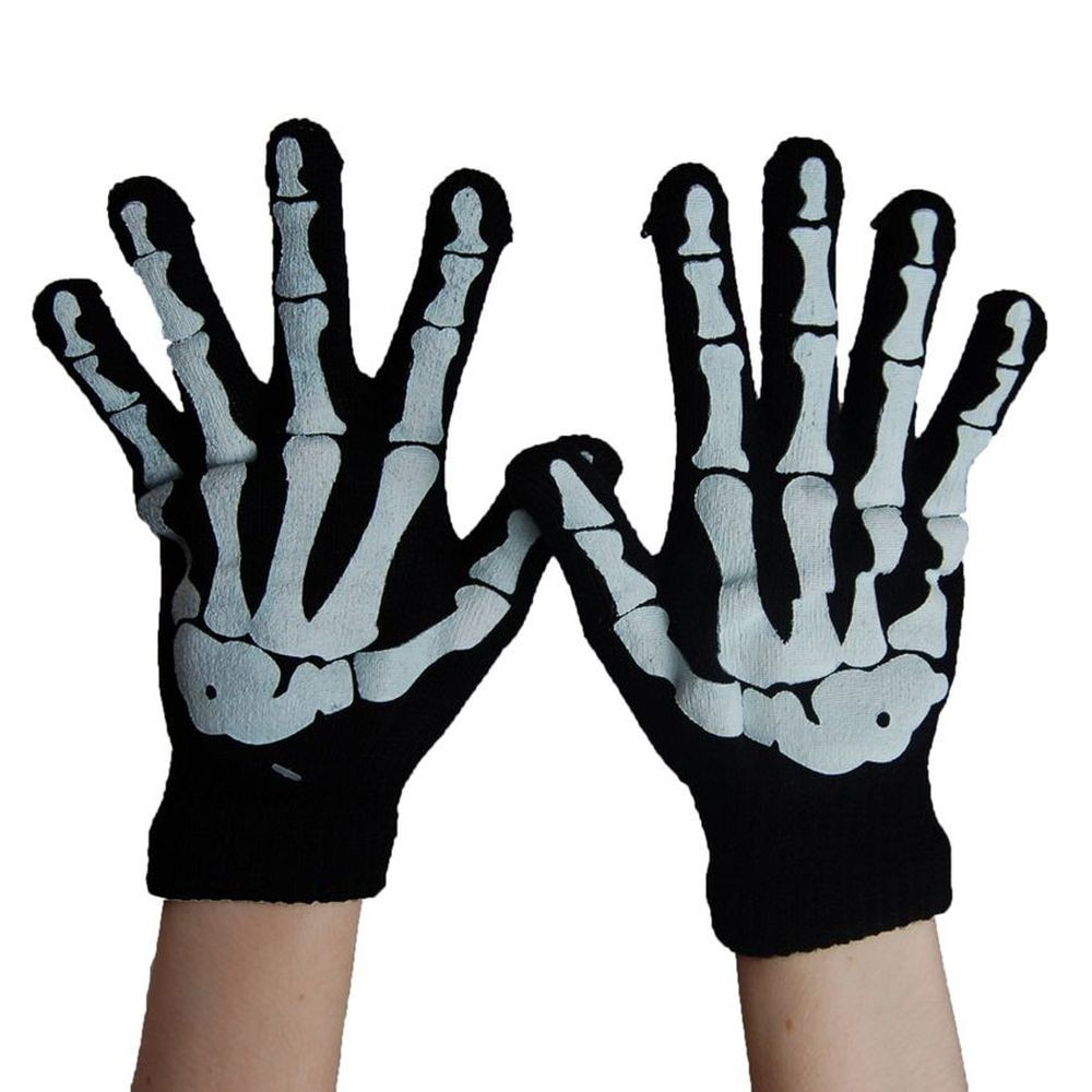 Handschoenen met Skelet Vingers