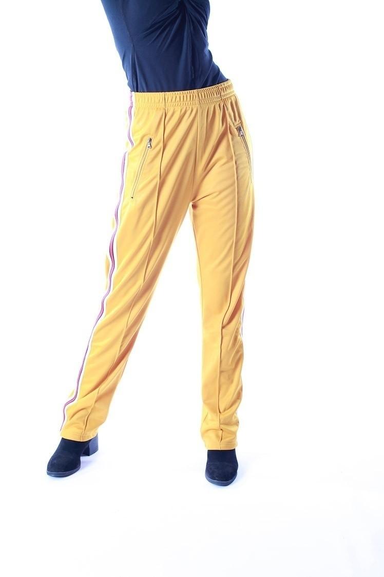 Sportbroek Runner, geel met strepen op de zijkant