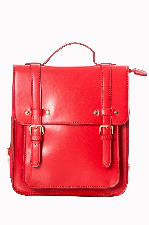 Handtas rugtas retro vintage Cohen, rood