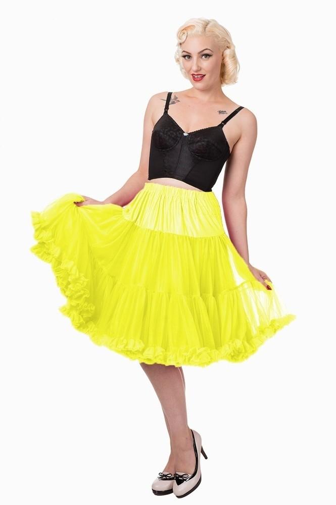 Petticoat Starlite over de knie met extra volume, geel