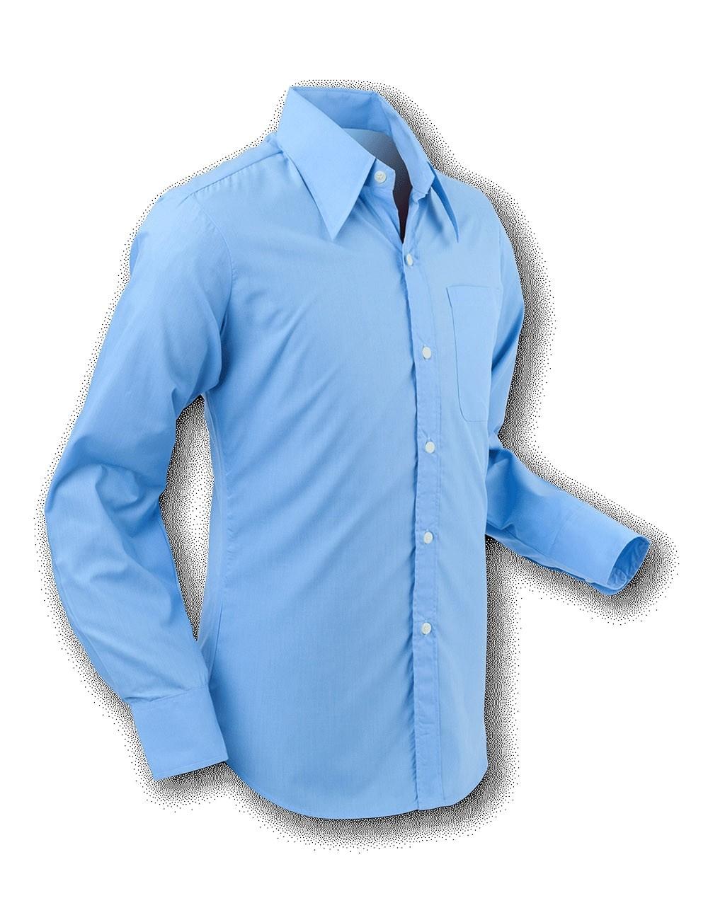 Overhemd 70s Basic Light-Blue