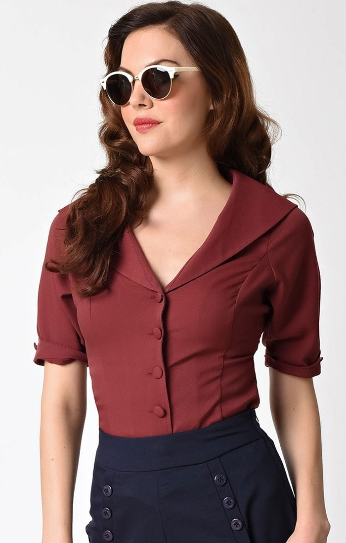 Blouse Coco Burgundy
