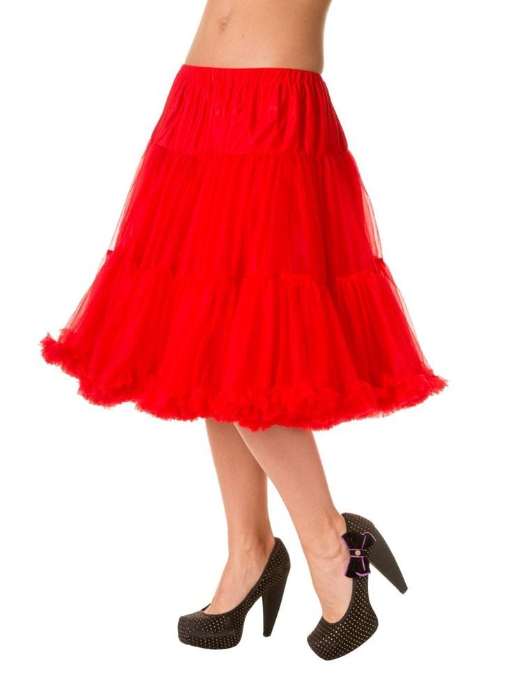 Petticoat Starlite over de knie met extra volume Red