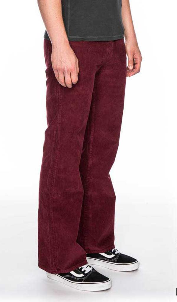 Ato Berlin - Ribcord broek met uitlopende pijp Newton Bordeaux