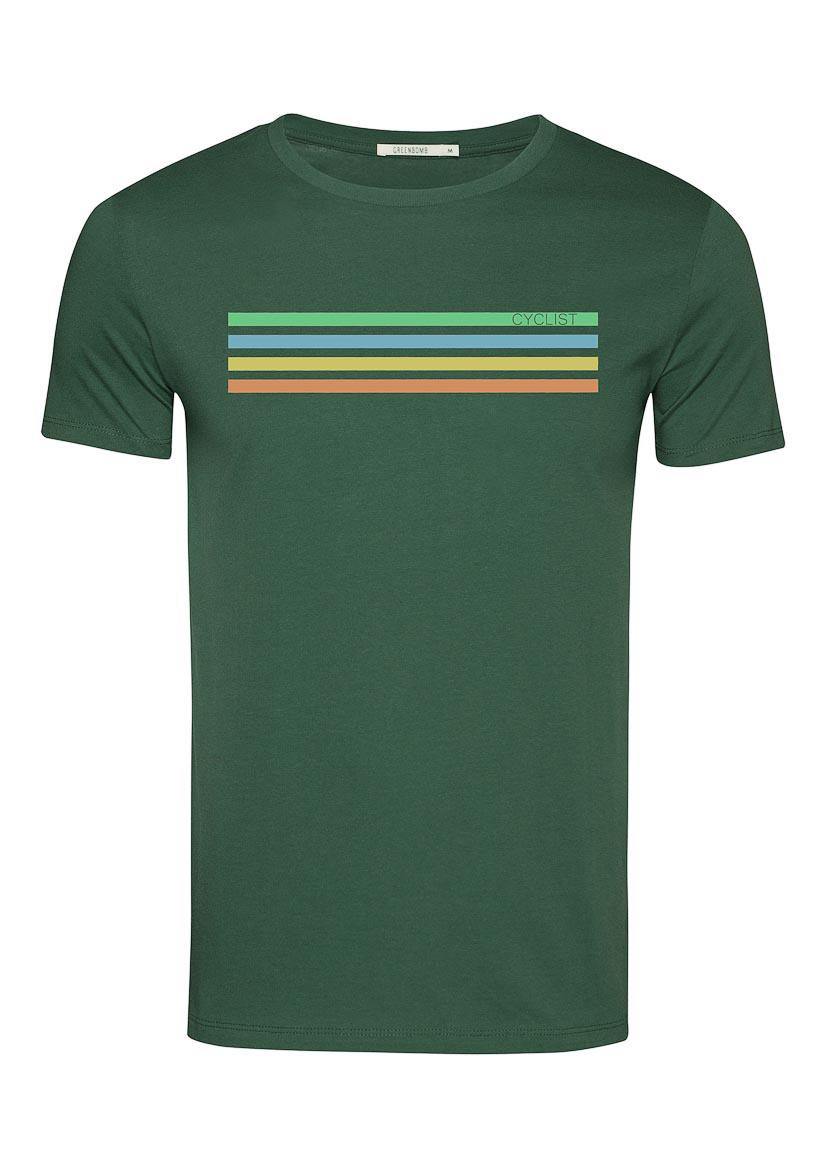 Green Bomb | T-shirt Bike Cyclist, bio katoen bottle green