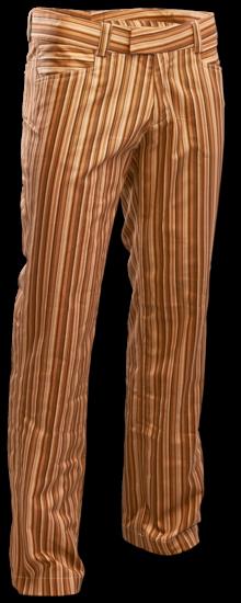 Broek recht model met bruine strepen