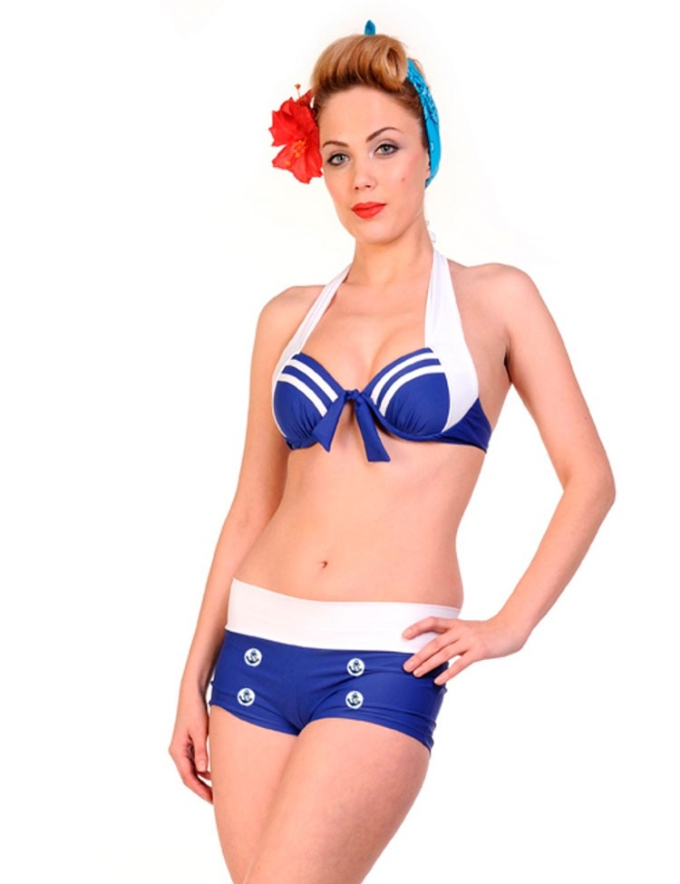 Bikini Sailor with Anchor Details Top