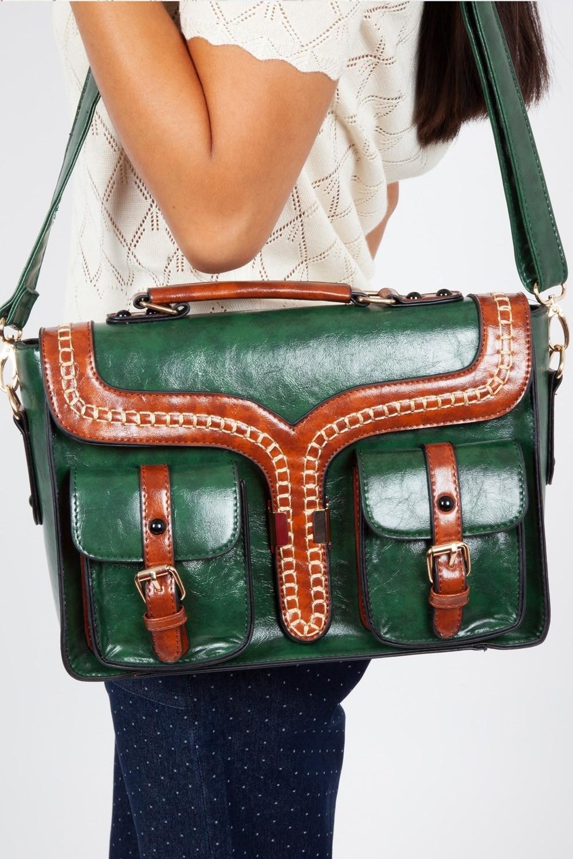 Handtas Freya satchel, groen