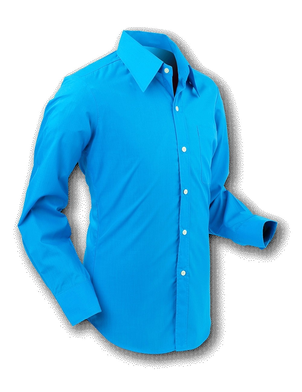 Overhemd 70s Basic Turquoise