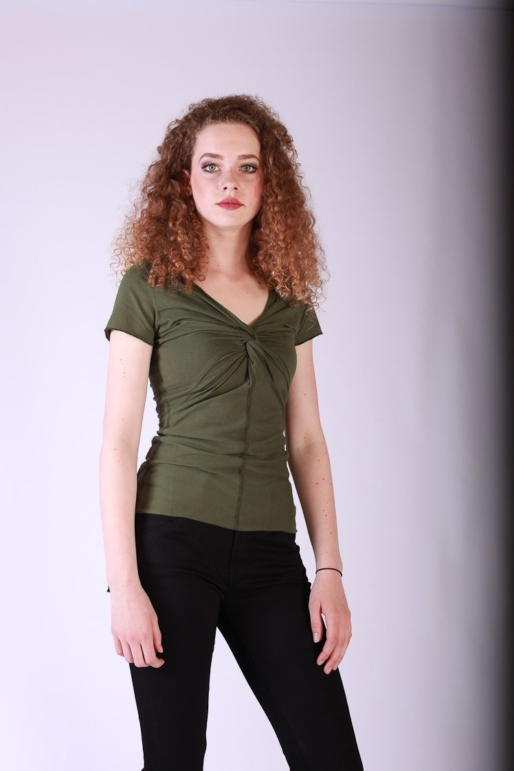 Shirt Angie Olijfgroen Organic Cotton