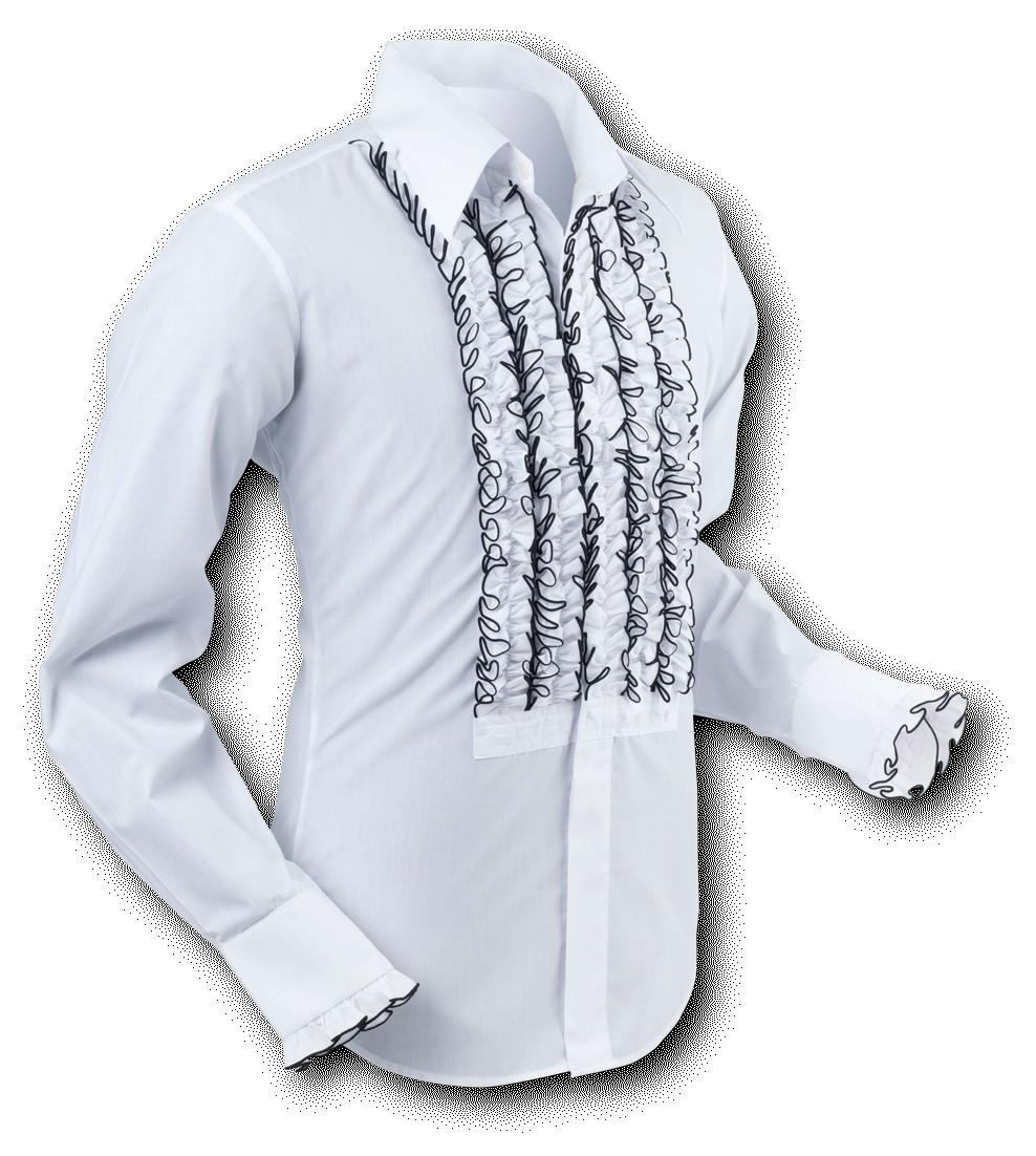Overhemd Ruche White-Black