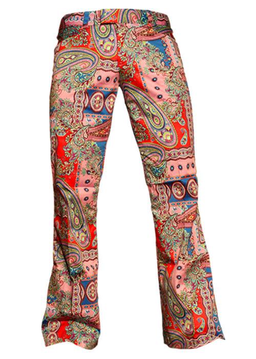 Chenaski | Kleurrijke paisley pantalon met uitlopende pijpen