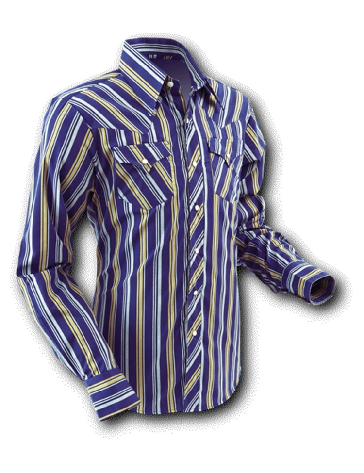 Overhemd Cowboy Blue Stripes