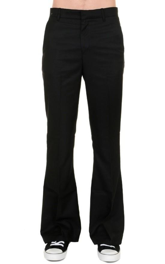 Pantalon 60s 70s wijde pijpen zwart