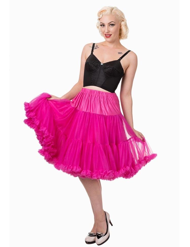 Petticoat Starlite over de knie met extra volume Hot Pink