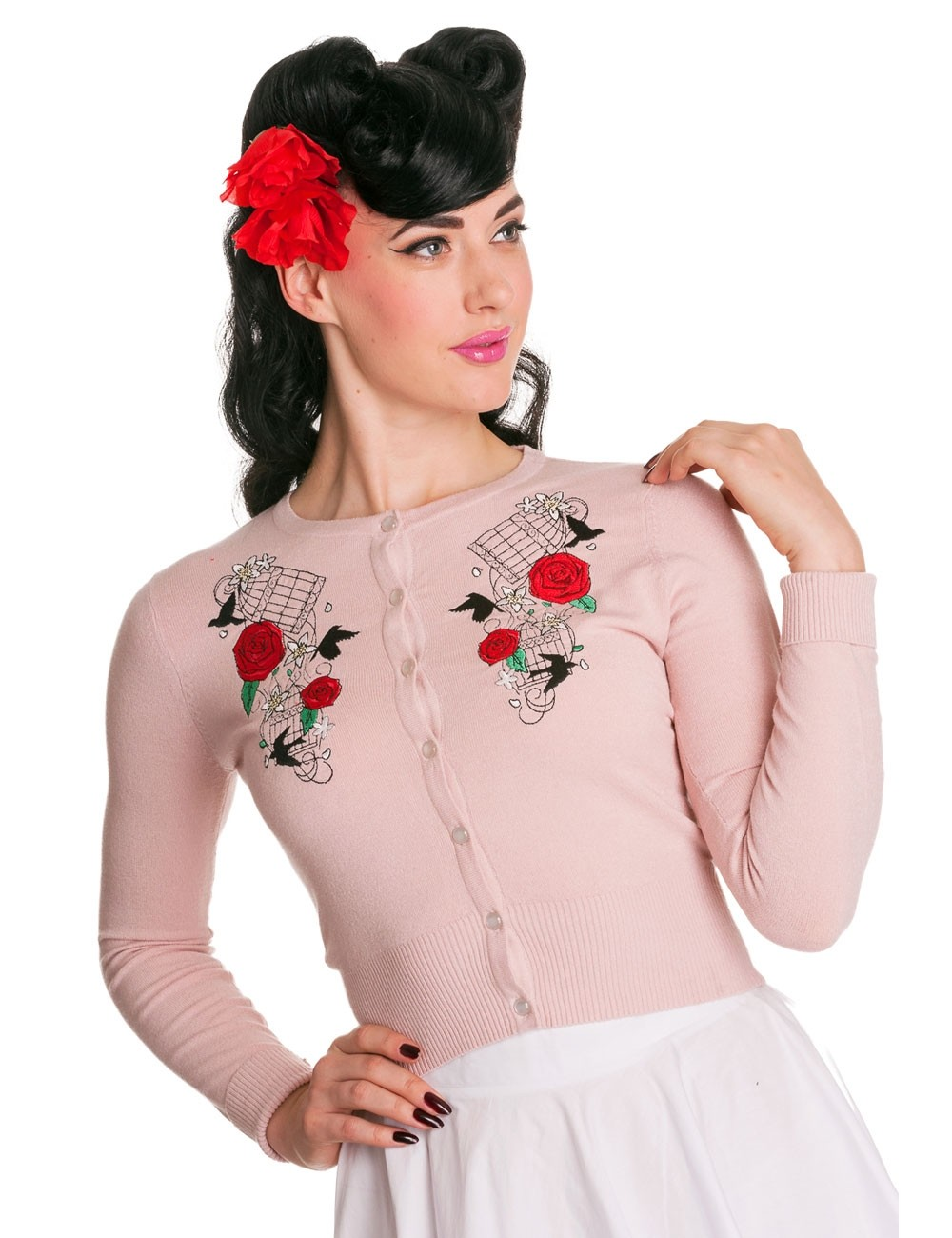 Cardigan Birdcage and Roses