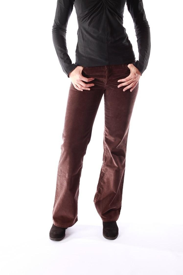 Ribcord broek met wijde pijp Newton Bruin