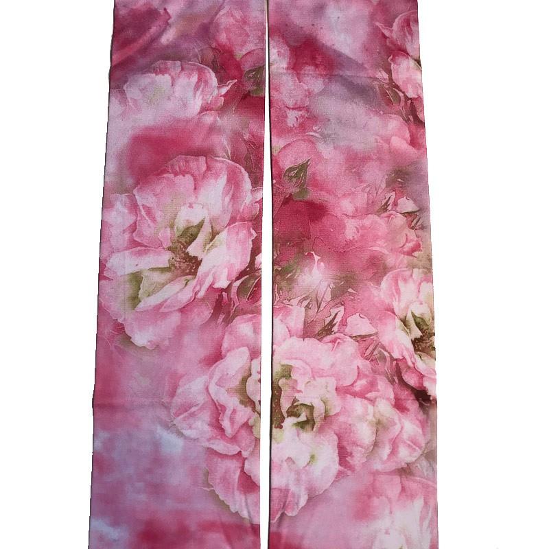 Panty roze pastel bloemen
