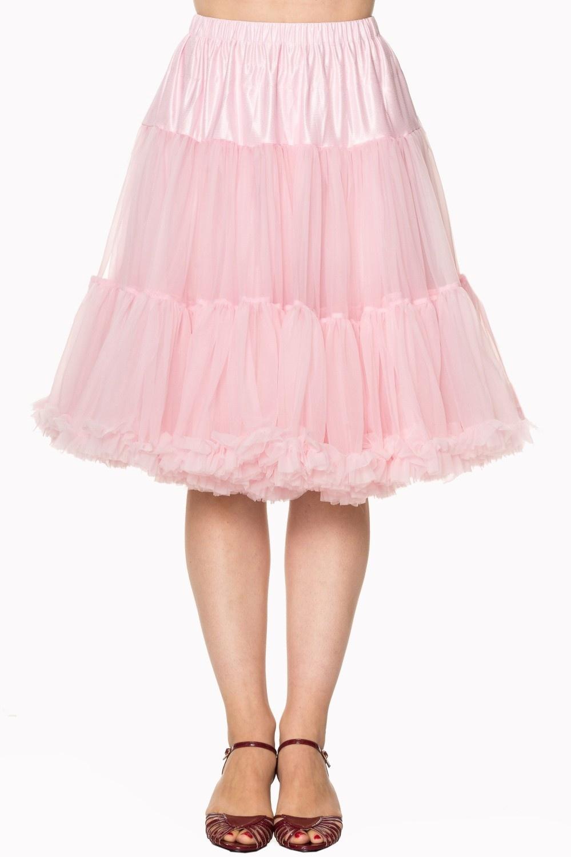 Petticoat Starlite over de knie met extra volume, lichtroze