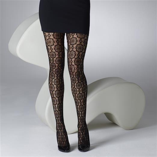 Panty cirkel fishnet, zwart