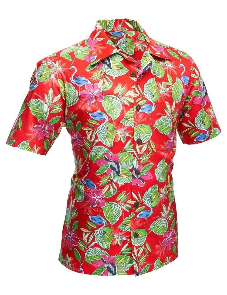 Overhemd korte mouw Colibri rood