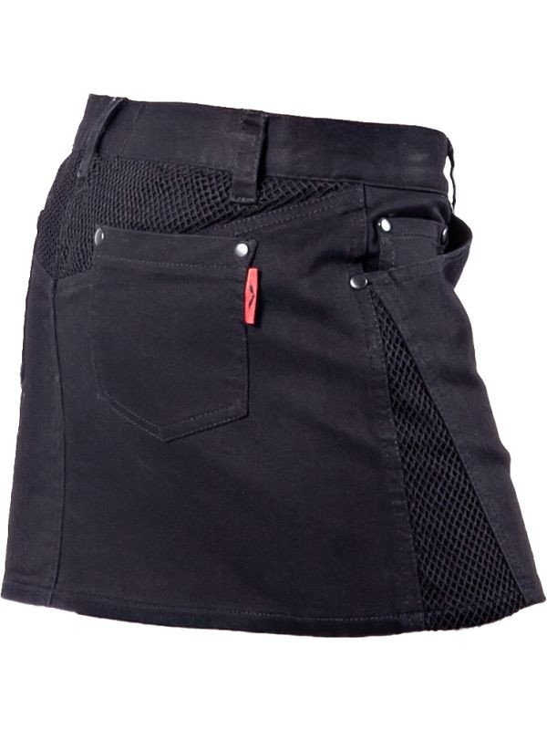 Skirt Mini Plain Black with Mesh