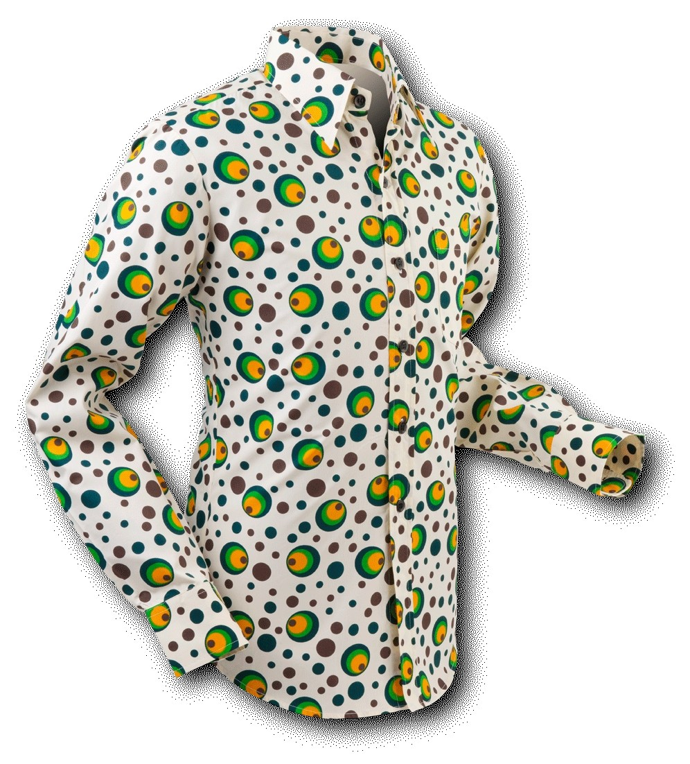 Overhemd Seventies Dots and Spots Green