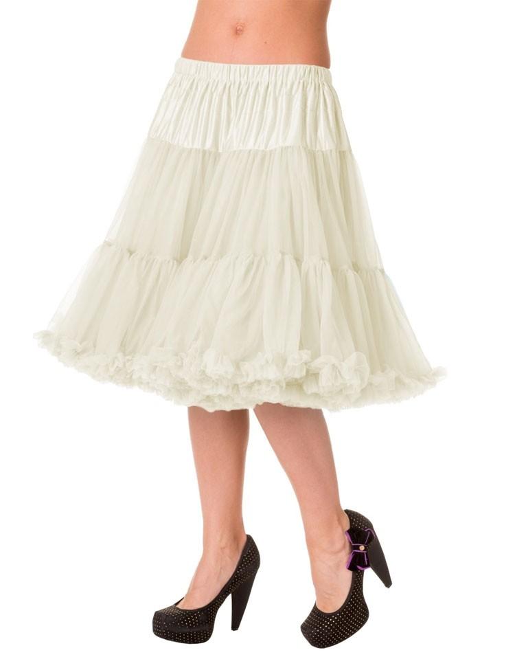 Petticoat Starlite over de knie met extra volume Ivory