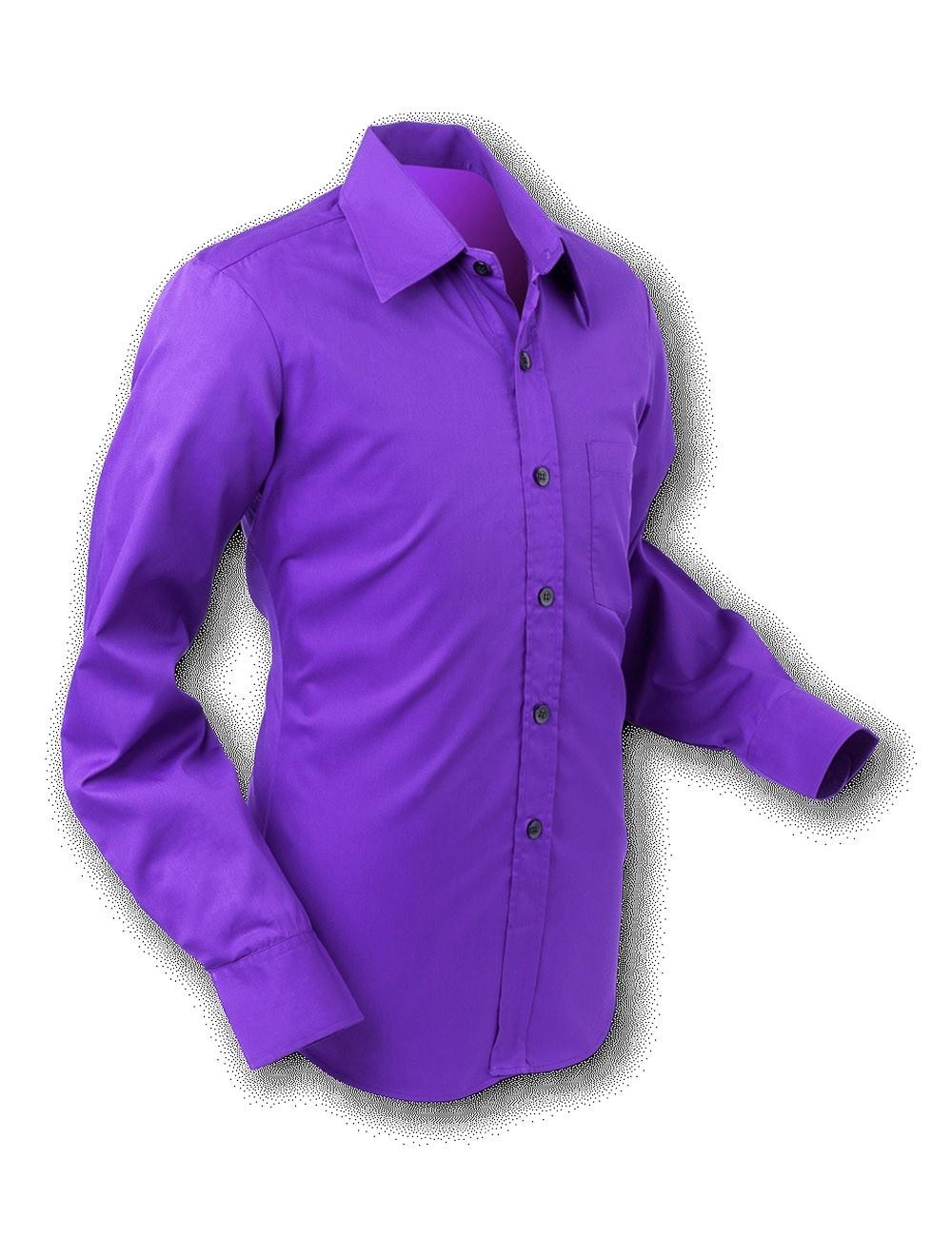 Overhemd 70s Basic Dark Violet
