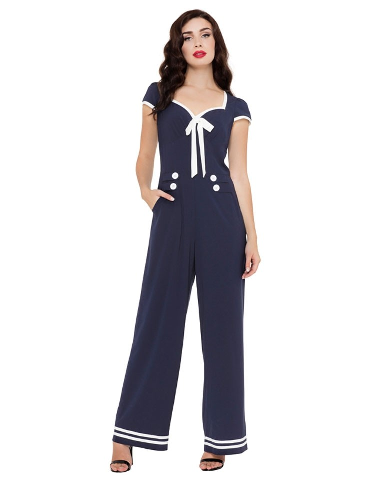 Jumpsuit Jolene, navy nautical